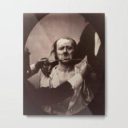 Duchenne de Boulogne Emotion Portrait Metal Print