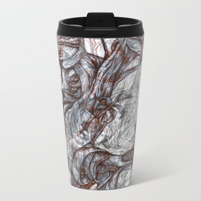 abstractness Metal Travel Mug