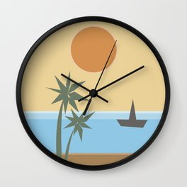 California Vibes Wall Clock