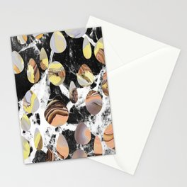 Marble cut out dots Stationery Cards
