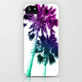 Retro Vintage Ombre Pop Art Los Angeles, Southern California Palm Tree Colored Print iPhone Case