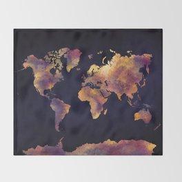 world map 64 Throw Blanket