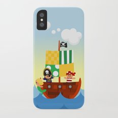 pirate ship iPhone X Slim Case