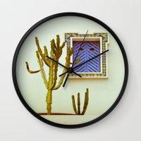 cactus Wall Clocks featuring Cactus by Sébastien BOUVIER