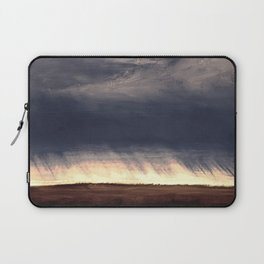 Storm Over Saskatchewan Fields Laptop Sleeve