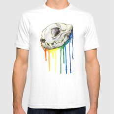 Skull Candy Kitty MEDIUM Mens Fitted Tee White