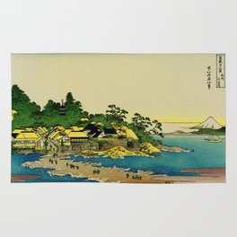Enoshima in Sagami Bay Japan Rug