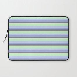 Pastel Blue Green Gray stripeS Laptop Sleeve