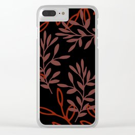 Leafy Red Clear iPhone Case