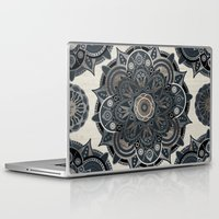 islam Laptop & iPad Skins featuring Silver Mandala by Mantra Mandala