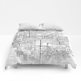Minimal City Maps - Map Of Las Vegas, Nevada, United States Comforters