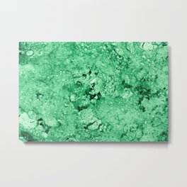 Green Marble texture Metal Print