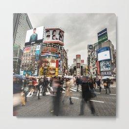 Shibuya crosswalk on Tokyo Metal Print