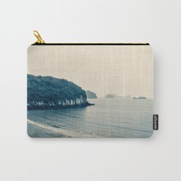 Gloomy Dawn on the Coast. Ha Long Bay, Vietnam. Landscape Photography. Carry-All Pouch