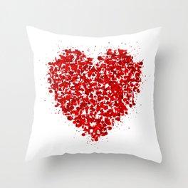 big heart 01 Throw Pillow