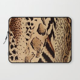 wildlife brown black tan cheetah leopard safari animal print Laptop Sleeve