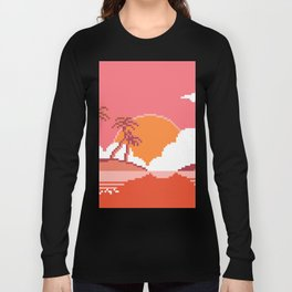 Sunset  on  Coco  Island Long Sleeve T-shirt