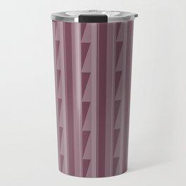 Modern Geometric Pattern 8 in Mulberry Travel Mug
