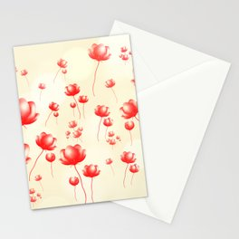 Flying flowers Stationery Cards