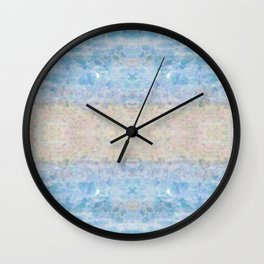 BOHEMIAN ICE STONE BLUE Wall Clock