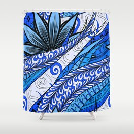 Boho Stylized Rope Pattern Shower Curtain