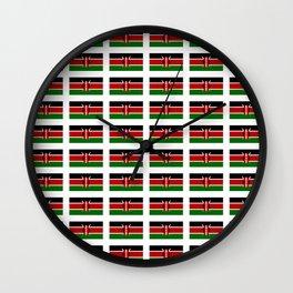 Flag of Kenya -kenyan,kenia,rift valley,serengeti,kilimanjaro,nairobi,mombasa Wall Clock