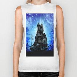 Castle in the night  Biker Tank