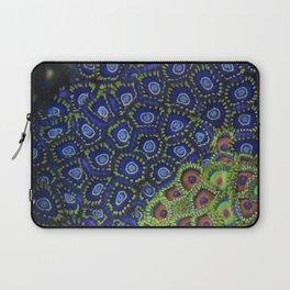 "Macro of Coral Zoanthus ""Blue Hornet"" Laptop Sleeve"