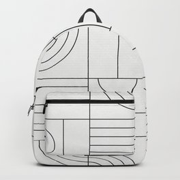 My Favorite Geometric Patterns No.19 - White Backpack