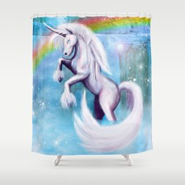 Unicorn and Sparkles - Day Shower Curtain