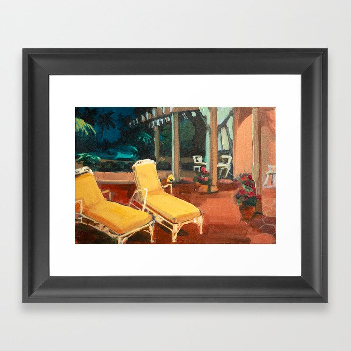 Golden Girls Lannai Framed Art Print