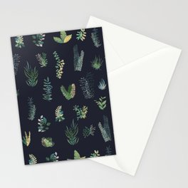 green garden at nigth Stationery Cards