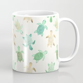 Gilded Jade & Mint Turtles Coffee Mug
