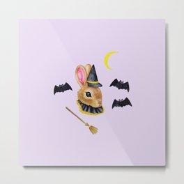 Witch Bunny Metal Print