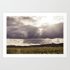 shine forth upon our clouded hills... Art Print