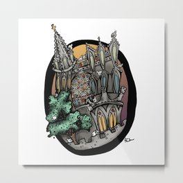 Church in Carcassonne Metal Print