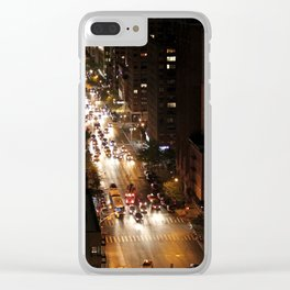 By Night: New York City (Pt. 12) Clear iPhone Case