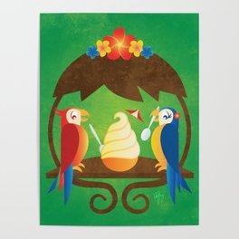 Tiki Birds Ice Cream Date Poster