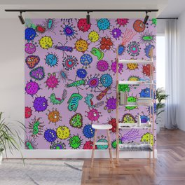Bacteria Background Wall Mural