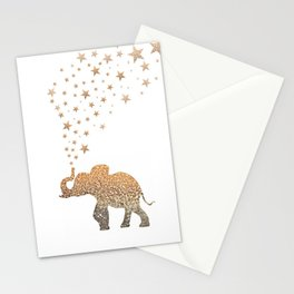 GOLD ELEPHANT Stationery Cards