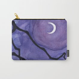 Crescent Moon and Night Sky  Carry-All Pouch