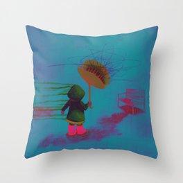 A Cloud of Flies Throw Pillow