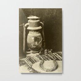 Antique Oil Lantern 1 Metal Print