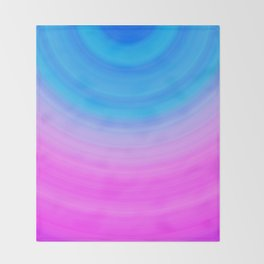 Pink & Blue Semicircles Throw Blanket