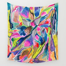 Fluorite Thin Section Watercolor Wall Tapestry