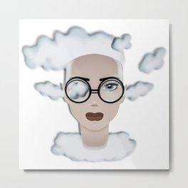 Cloudy OCTOBER Metal Print