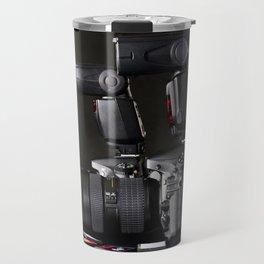 Set of photographs DSLR camera, lens and flash Travel Mug
