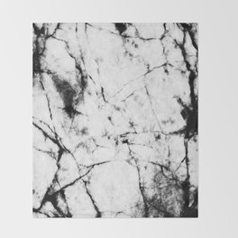 Marble Concrete Stone Texture Pattern Effect Dark Grain Throw Blanket