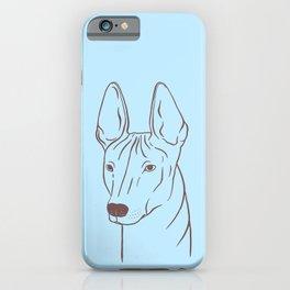 Xoloitzcuintli (Light Blue and Taupe) iPhone Case