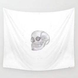 Death Skull (original work of 8yr old boy) Wall Tapestry